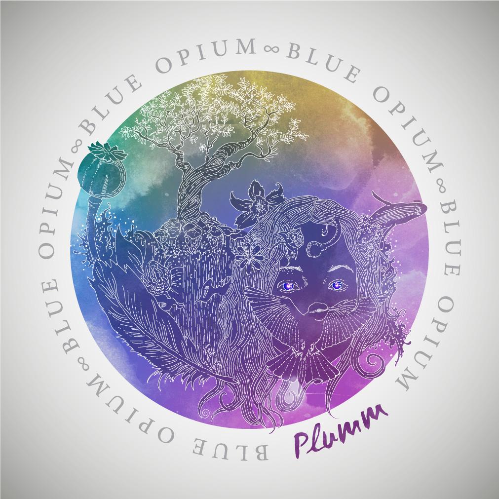 Plumm Blue Opium cover design